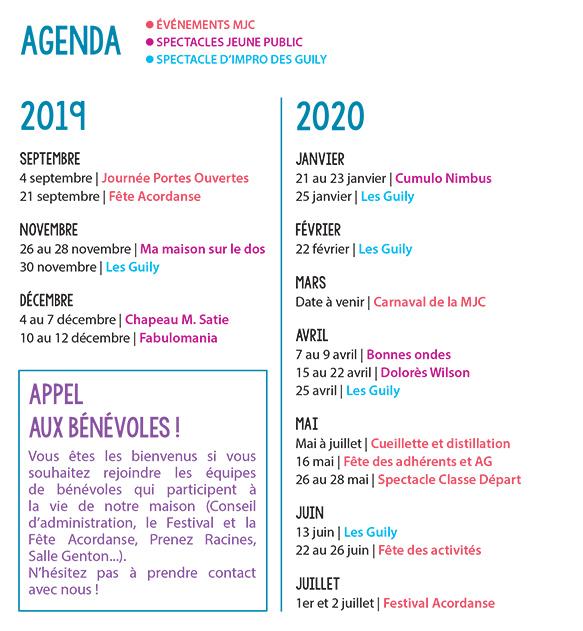 Page agenda MJC Laënnec-Mermoz Salle Genton